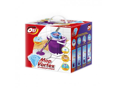 Mop Vortex - Set compact de curatenie, 1 rezerva
