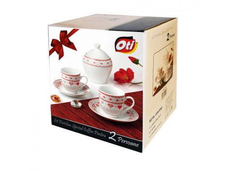 "Set cafea portelan, 6 piese, model ""Traditional"""