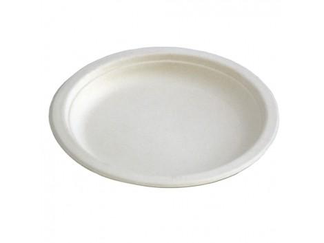 Farfurii plate unica folosinta biodegradabile 22.5 cm, 50 buc./set