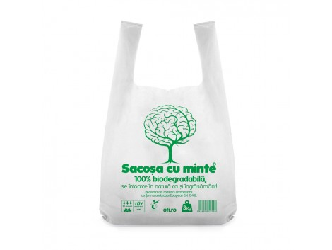 Sacose biodegradabile cf standard EN13432, Oti Green, 36x40cm, 3kg, 50 buc./set