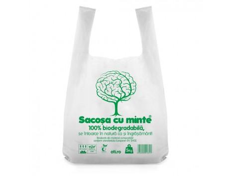 Sacose biodegradabile cf standard EN13432, Oti Green, 40x50cm, 5kg, 50 buc./set