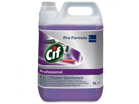 Dezinfectant concentrat pentru suprafete Cif Professional 2in1, 5L