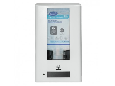 Dispenser cu senzor pentru gel dezinfectant, IntelliCare Hybrid, alb, 1.3L