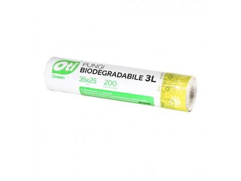 Pungi biodegradabile cf standard EN13432, 35x25 cm, 200 buc./rola, 3L