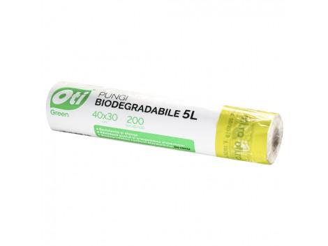 Pungi biodegradabile cf standard EN13432, 40x30 cm, 200 buc./rola, 5L