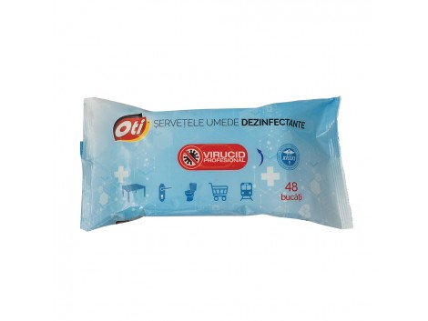 Servetele umede dezinfectante virucide, 48 buc./pachet