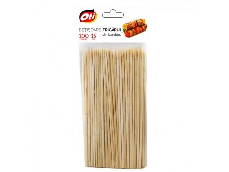 Betisoare frigarui din bambus, 15 cm., Ø 3mm., 100 buc./pachet