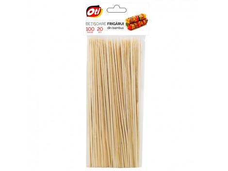Betisoare frigarui din bambus, 20 cm., Ø 3mm., 100 buc./pachet