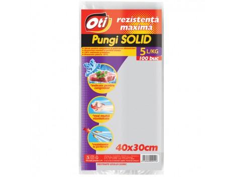 Pungi pentru uz casnic SOLID 5L, 40x30 cm, 100 buc./set