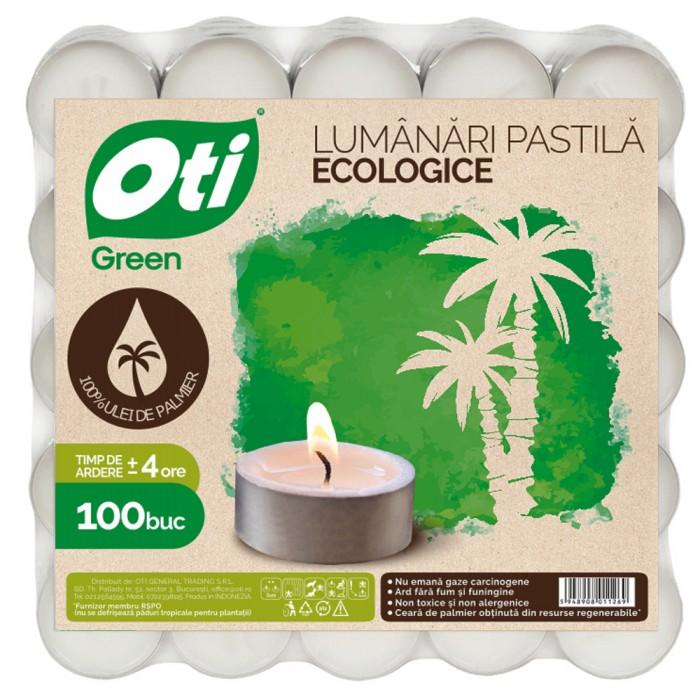 Lumanari pastila ecologice, 100 buc./set