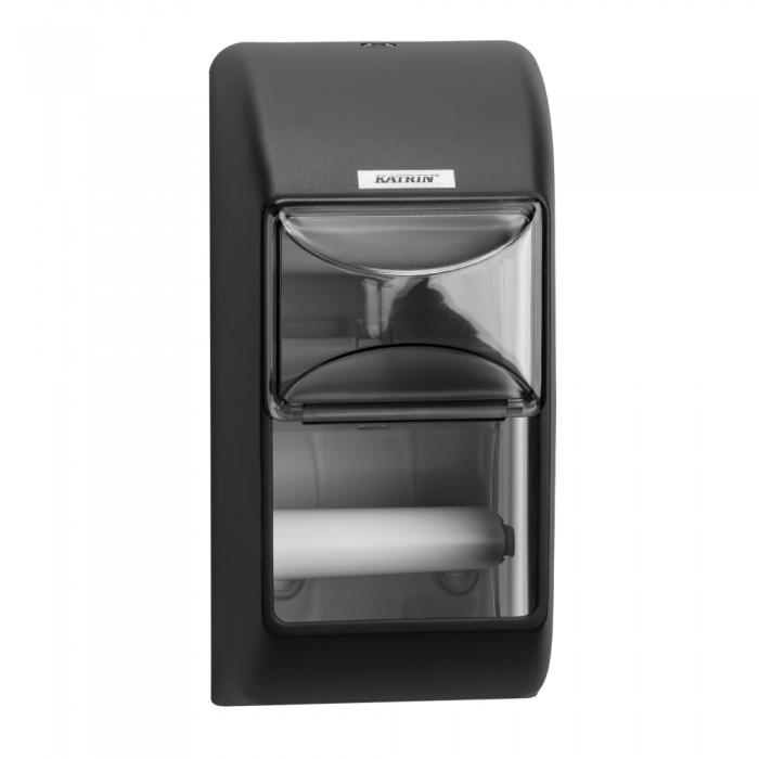 Dispenser Katrin, negru, 2 role hartie igienica