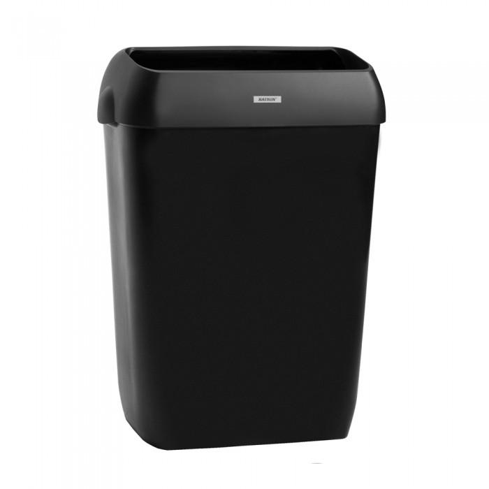 Dispenser Katrin, negru, cos de gunoi 50L