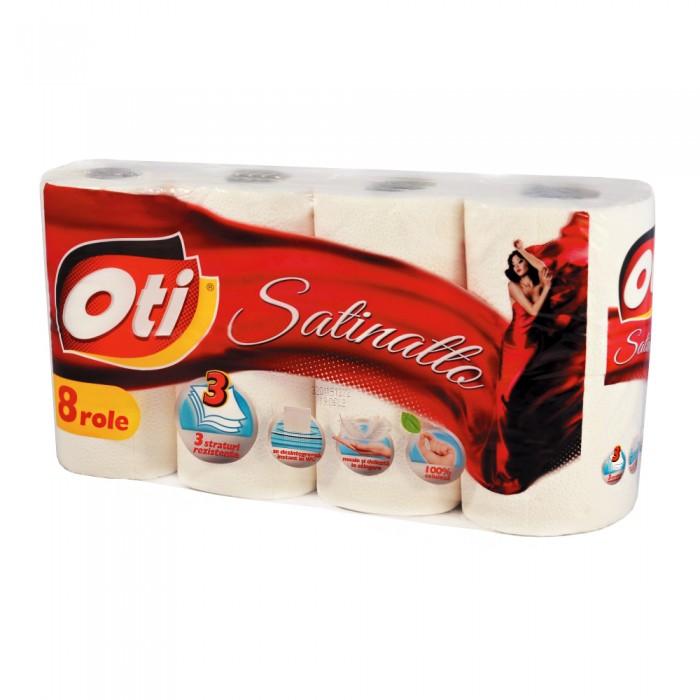 Hartie igienica OTI Satinatto, 3 straturi, 8 role