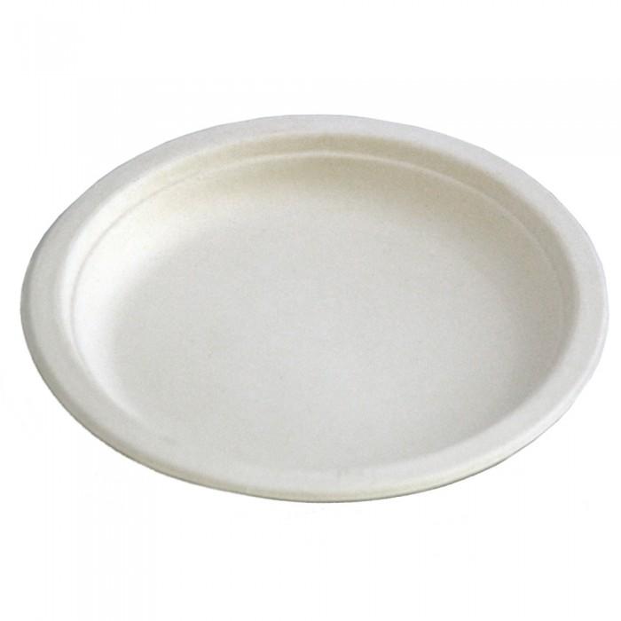 Farfurii plate unica folosinta biodegradabile 25 cm, 50 buc./set