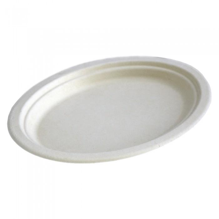 Platouri ovale unica folosinta biodegradabile 26x20 cm, 50 buc./set