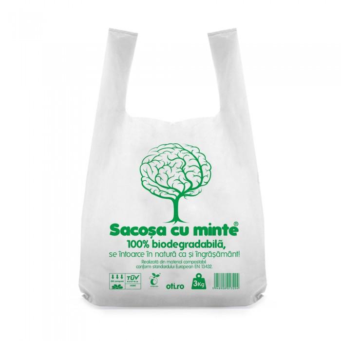 Pungi biodegradabile cf standard EN13432, Oti Green, 36x40cm, 3kg, 50 buc./set
