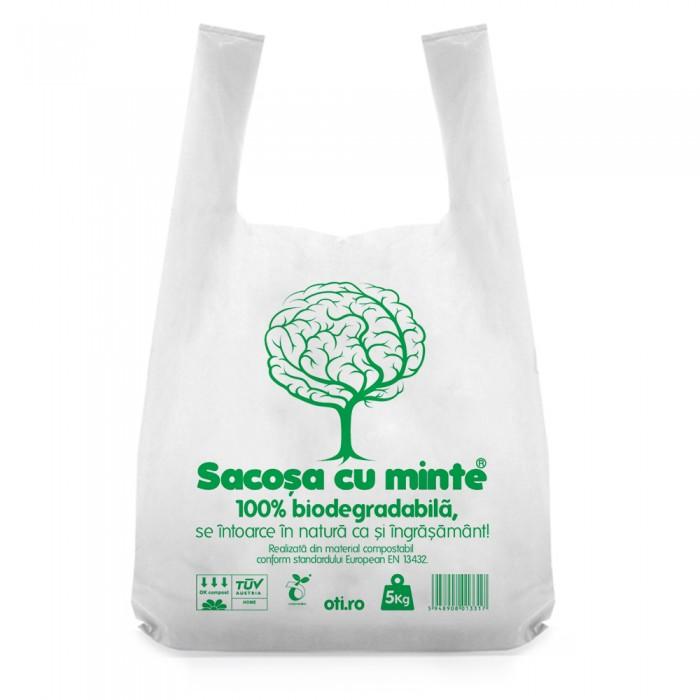 Pungi biodegradabile cf standard EN13432, Oti Green, 40x50cm, 5kg, 50 buc./set