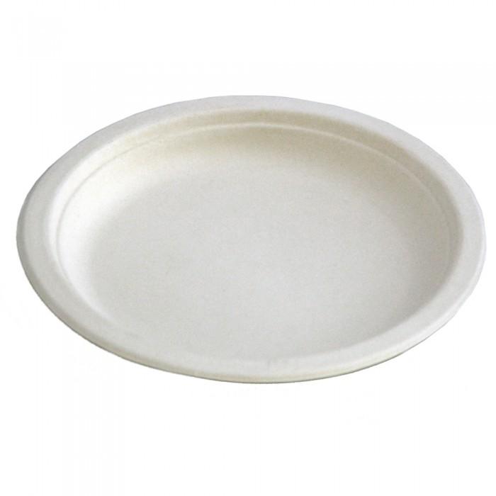 Farfurii plate unica folosinta biodegradabile cf standard EN13432, 22.5 cm, 20 buc./set