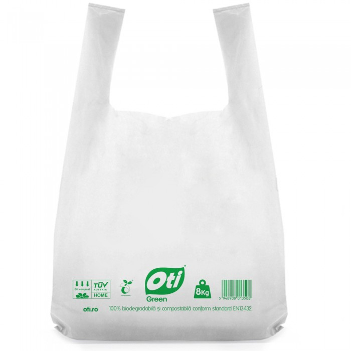 Pungi biodegradabile cf standard EN13432, 53x60cm, 8kg, 50 buc./set