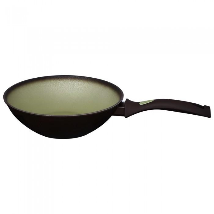 "Wok din aluminiu cu acoperire antiaderenta, model ""Avocado"", 28 cm"