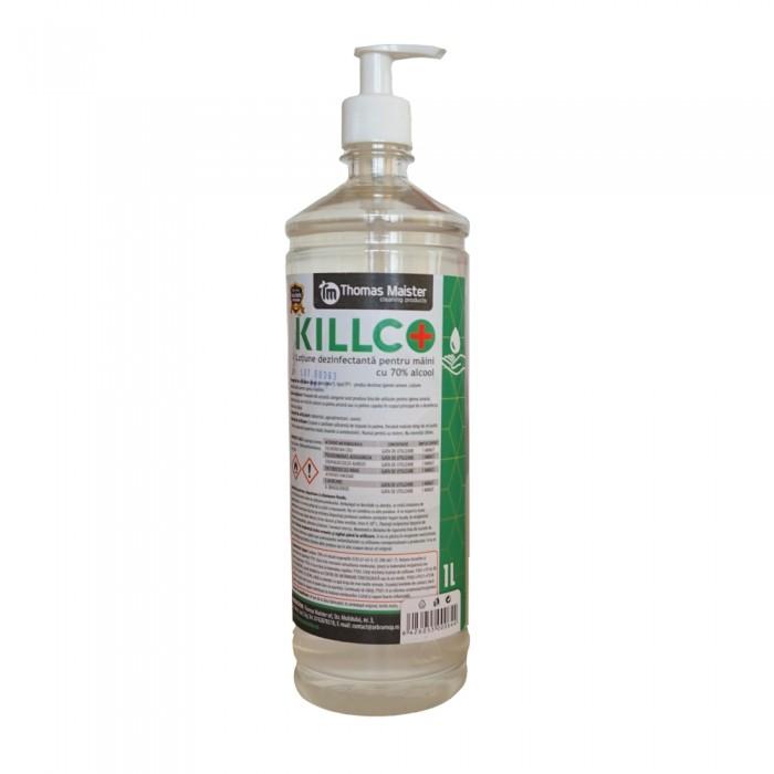 Dezinfectant gel pentru maini Killco, cu pompita, 1L