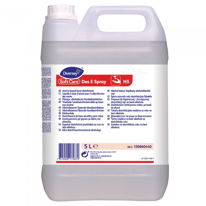 Dezinfectant lichid pentru maini, profesional, Soft Care Des E Spray, 5L
