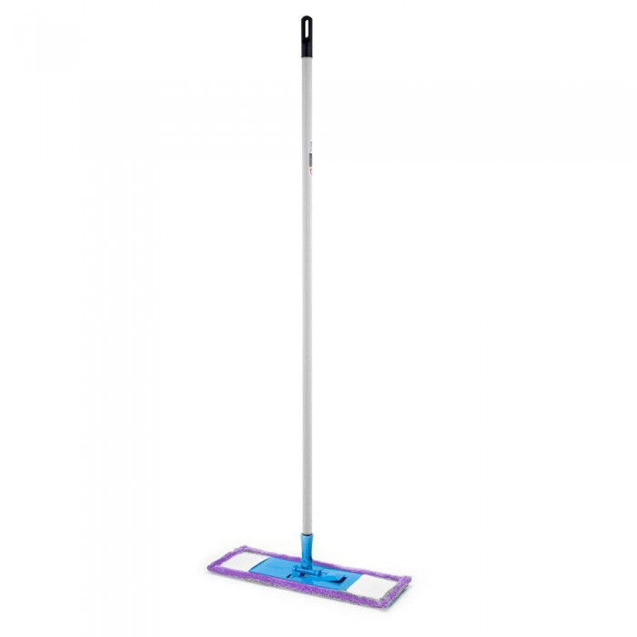 Mop plat Economic cu microfibra + coada metalica (120 cm)