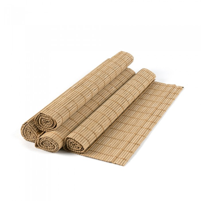 Set placemat bambus, 4 buc./set, crem