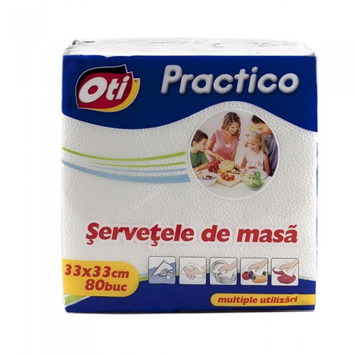 Servetele de masa OTI Practico, 33x33 cm, 80 buc./pachet