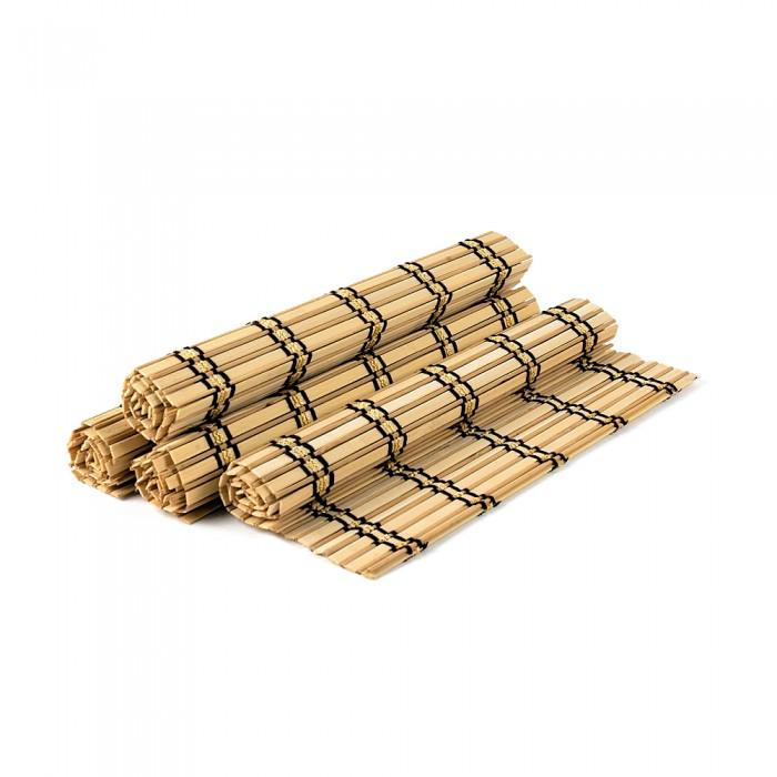 Set placemat bambus, cu dungi, 4 buc./set