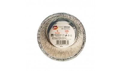 Forma din aluminiu pentru copt briose, 135ml, 5 buc./set