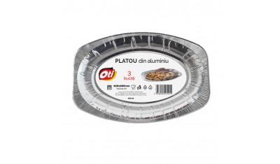 Platou din aluminiu 425 x 285 mm, 3 buc./set