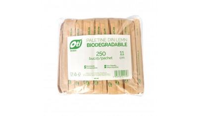 Paletine din lemn biodegradabile, ambalate individual, 11 cm, 250 buc./pachet