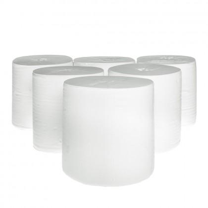 Prosop alb, derulare interioara, fara tub, 1 strat, 300 m., 6 role/bax