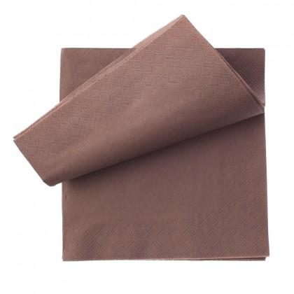 Servetele 33x33 cm., maro, 3 straturi, 250 buc./pachet