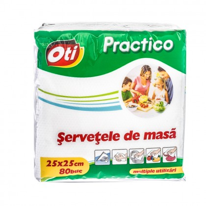 Servetele de masa OTI Practico, 25x25 cm, 80 buc./pachet