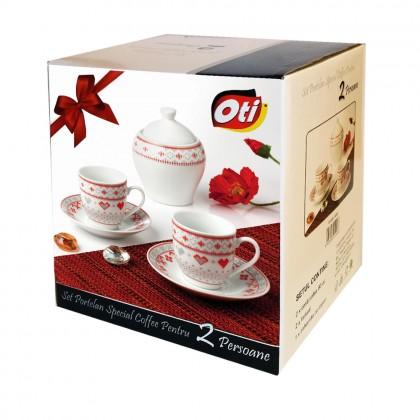 "Set cafea portelan, 6 piese, model ""Traditional"""