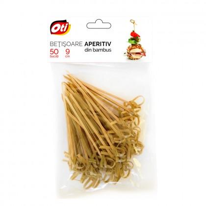 Betisoare aperitiv din bambus, 9 cm, 50 buc./set