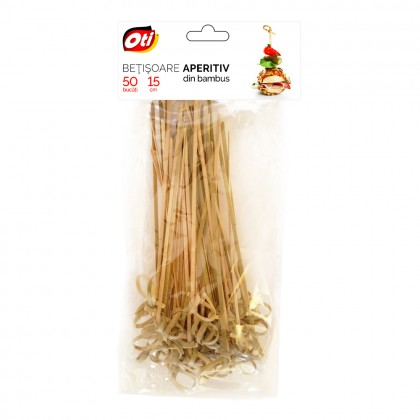 Betisoare aperitiv din bambus, 15 cm, 50 buc./set