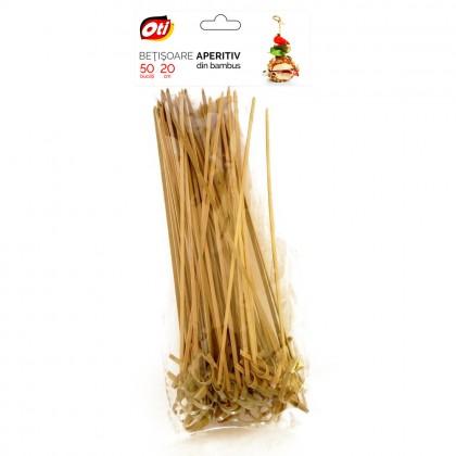 Betisoare aperitiv din bambus, 20 cm, 50 buc./set