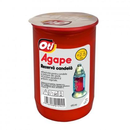 Rezerva Candela cu ulei Agape, Timp de ardere ~2,5 zile