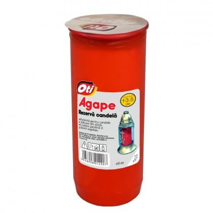 Rezerva Candela cu ulei Agape, Timp de ardere ~3,5 zile