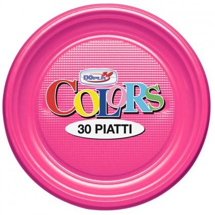 Farfurii din plastic, 22 cm, mov, 30 buc./set