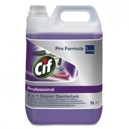 Detergent dezinfectant lichid 2in1 Cif Professional, 5L