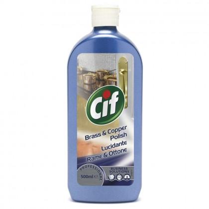 Solutie crema pentru alama si cupru Cif Professional, 0.5L