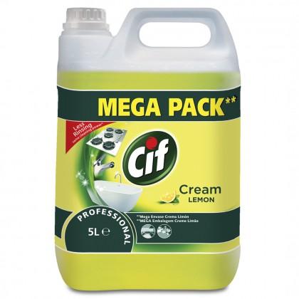 Crema de curatat non-abraziva Cif Professional, Lemon, 5L