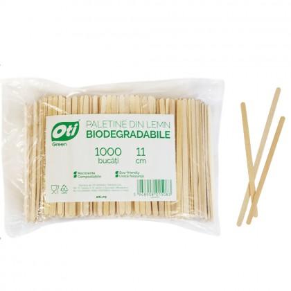 Paletine din lemn biodegradabile, 11cm, 1000 buc./pachet