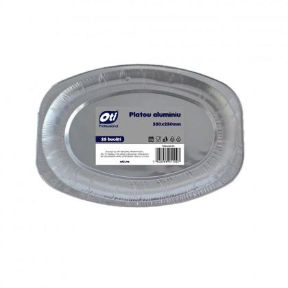 Platou din aluminiu 350 x 250 mm, 25 buc./set