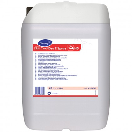 Dezinfectant lichid pentru maini, profesional, Soft Care Des E Spray, 20L