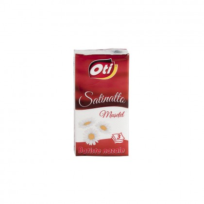 Batiste nazale OTI Satinatto, 3 straturi, 10 buc./set, parfumate